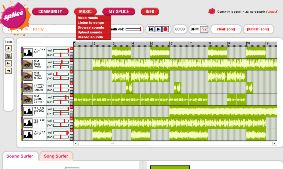 SpliceMusic's free online music mixing software