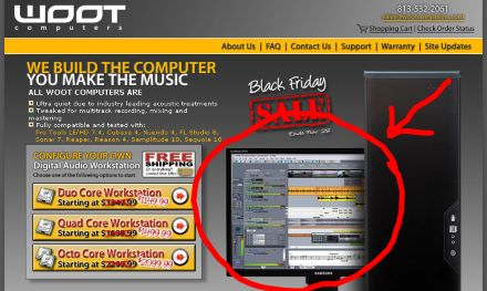woot ad about sonar computer